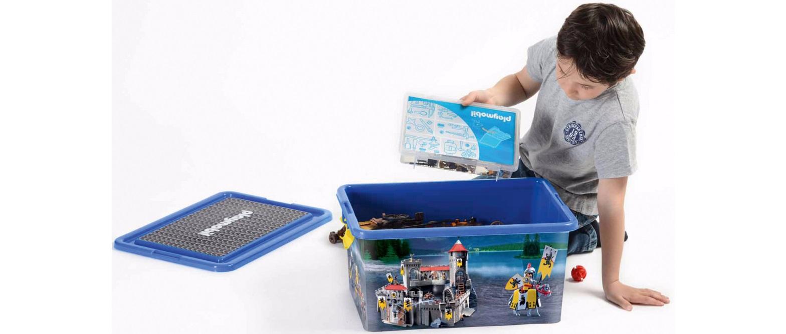 playmobil aufbewahrungsbox xl 23l  kleinteilebox ritter